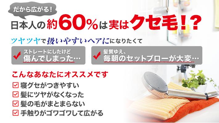 日本人の約60%は実はクセ毛!?