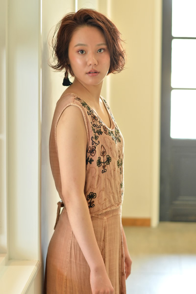pinkベージュ × ショートbob PHOTO1